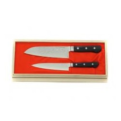Kuchyňské damaškové nože Higuchi 2 ks