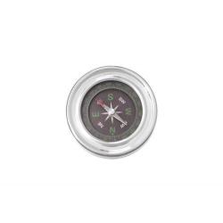 Stolní kompas 9339 stříbrný 6 cm