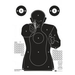 Terč pistolový POLICEJNÍ PARKUR FBI černý